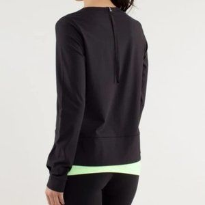 Lululemon warm up crew long sleeve black size 10